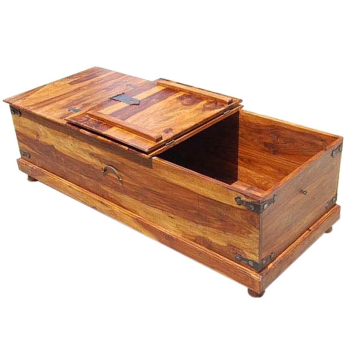 Solid Wood Bedroom Kokanee Rustic Storage Coffee Table