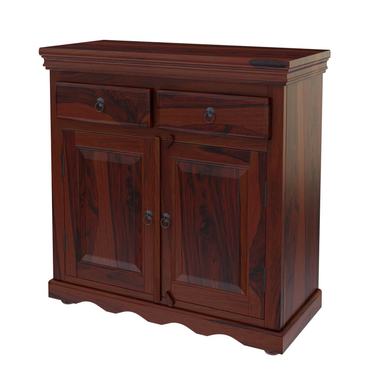 Tampa Kitchen Cabinets: Tampa Rustic Solid Wood Handmade 2 Drawer Buffet Cabinet