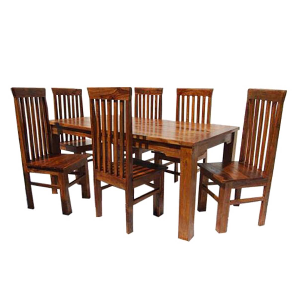 Lincoln study 7 piece dining table chair set for 7 piece dining set with bench