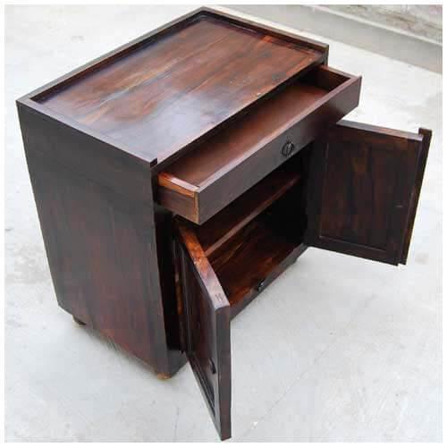 Espresso wood storage drawer kitchen cabinet side table - Espresso kitchen table ...