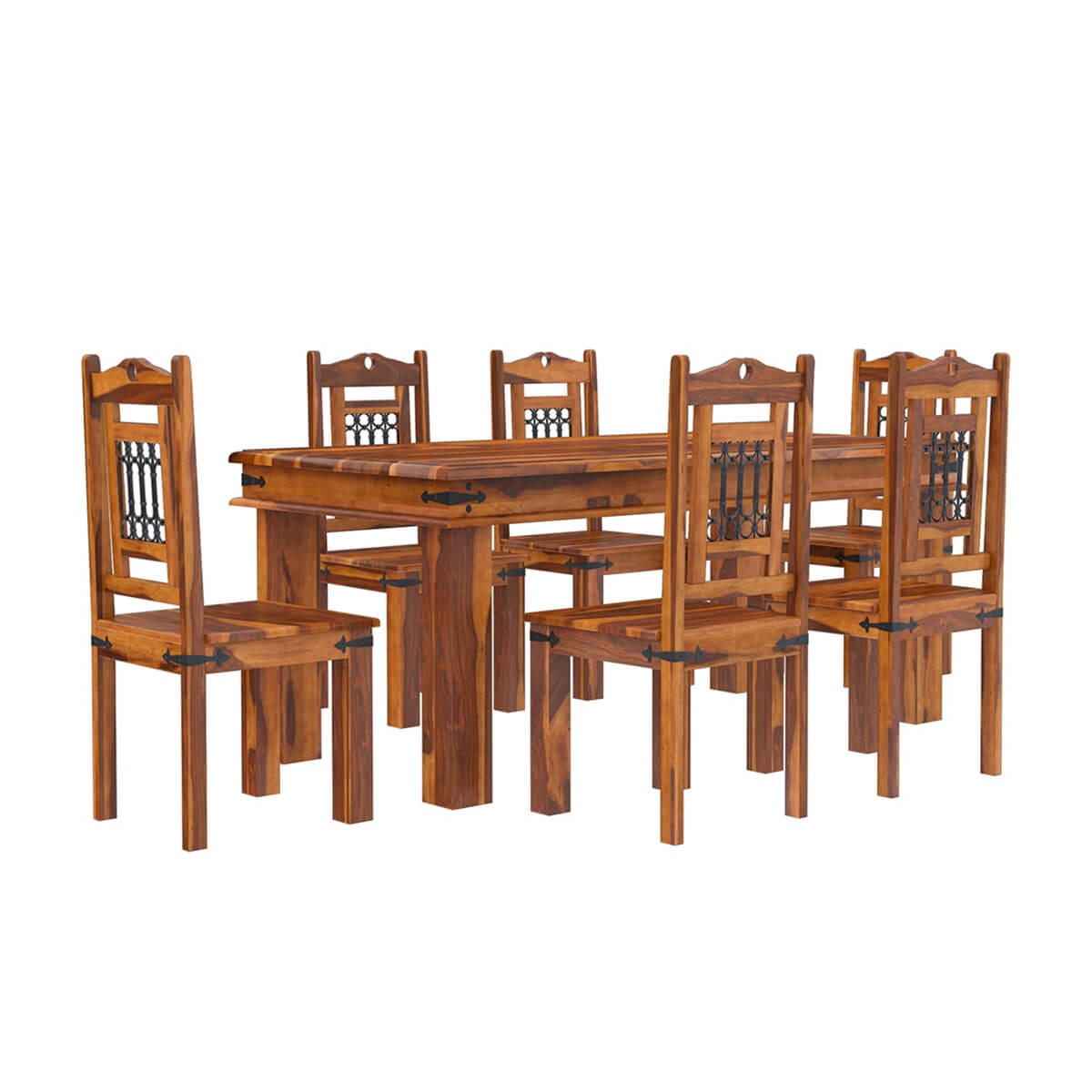 philadelphia classic 7pc transitional dining room table and chair set. Black Bedroom Furniture Sets. Home Design Ideas