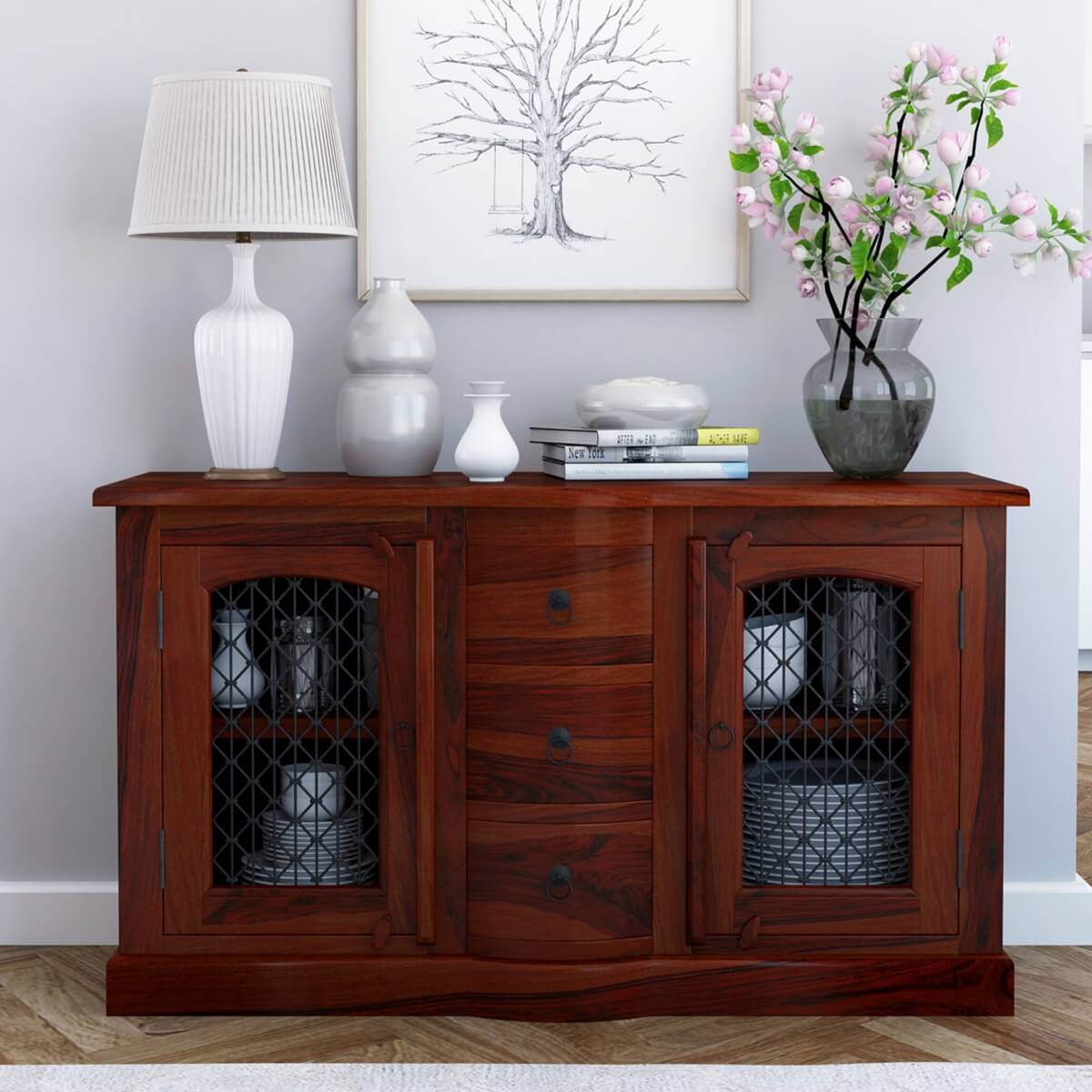 Solid Wood Buffet Sideboard Cabinet Buffet
