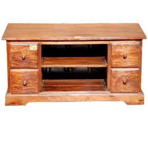 40 Solid Wood Rustic Entertainment Media Console