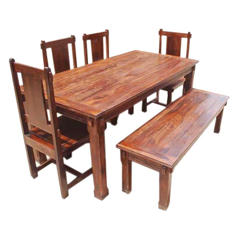 Rustic Solid Wood Santa Cruz Dining Table Set : 20913 from www.sierralivingconcepts.com size 800 x 800 jpeg 90kB