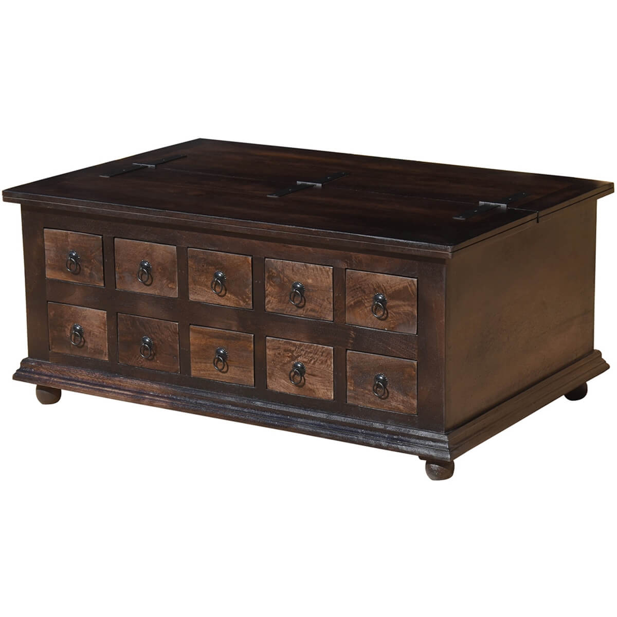 Fantastic Classic Wood Storage Coffee Table with 10 Drawers DP36