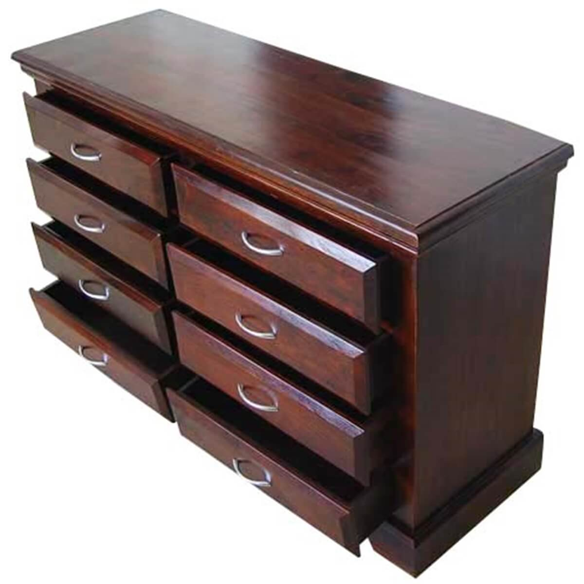 bedroom storage chest solid wood 8 drawer dresser 10685