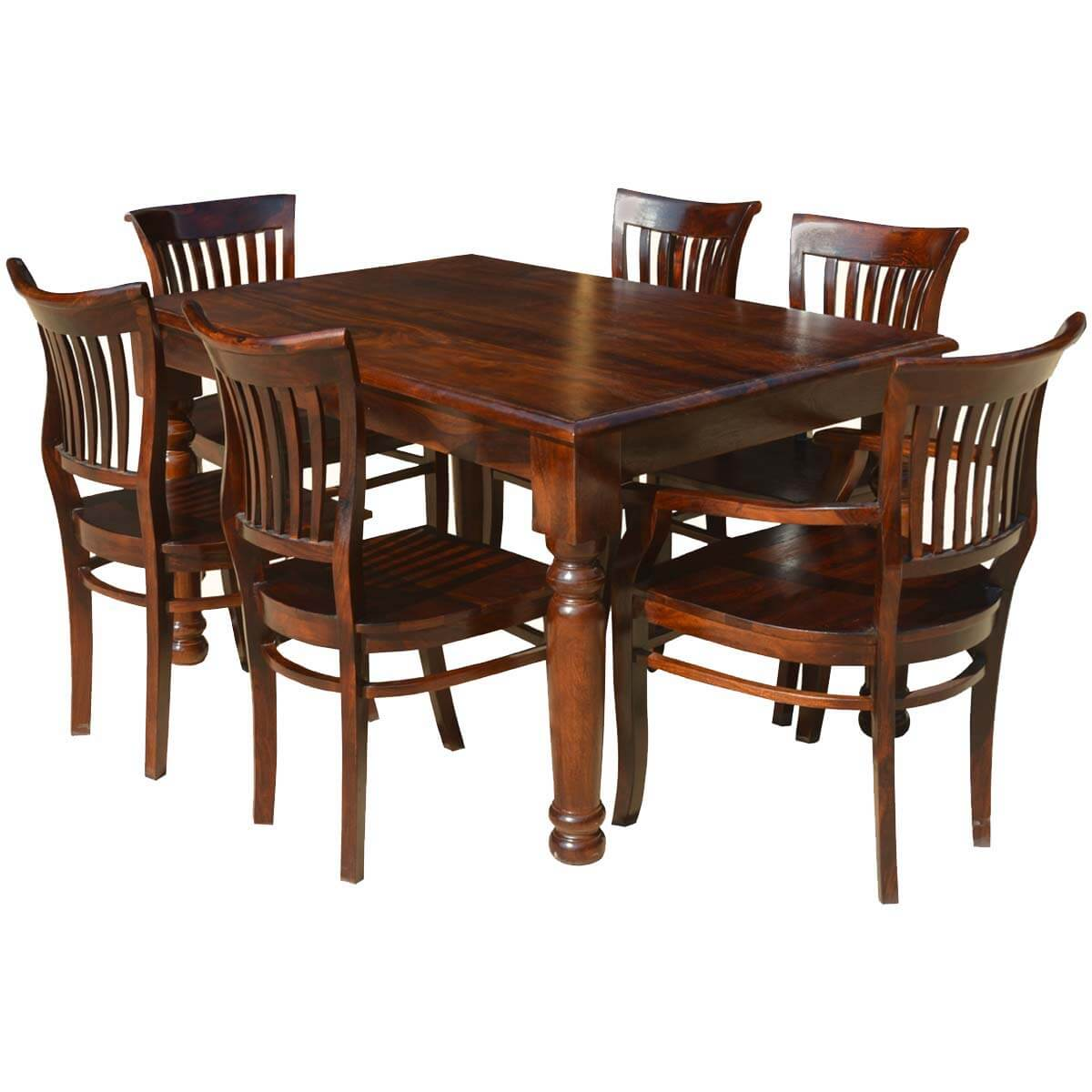lincoln 7 piece contemporary dining room table and barrel chair set. Black Bedroom Furniture Sets. Home Design Ideas