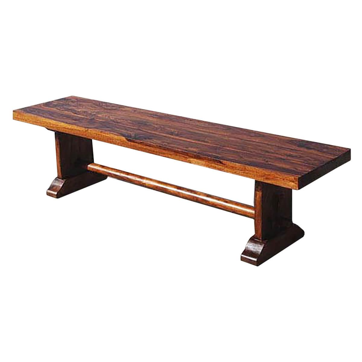 Indoor Wooden Bench Part - 23: ... Solid Rustic Wood Style Indoor Bench Furniture ...