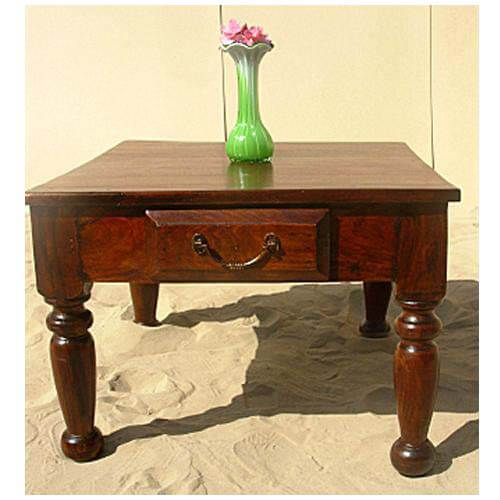 One Drawer Solid Rosewood Coffee Table