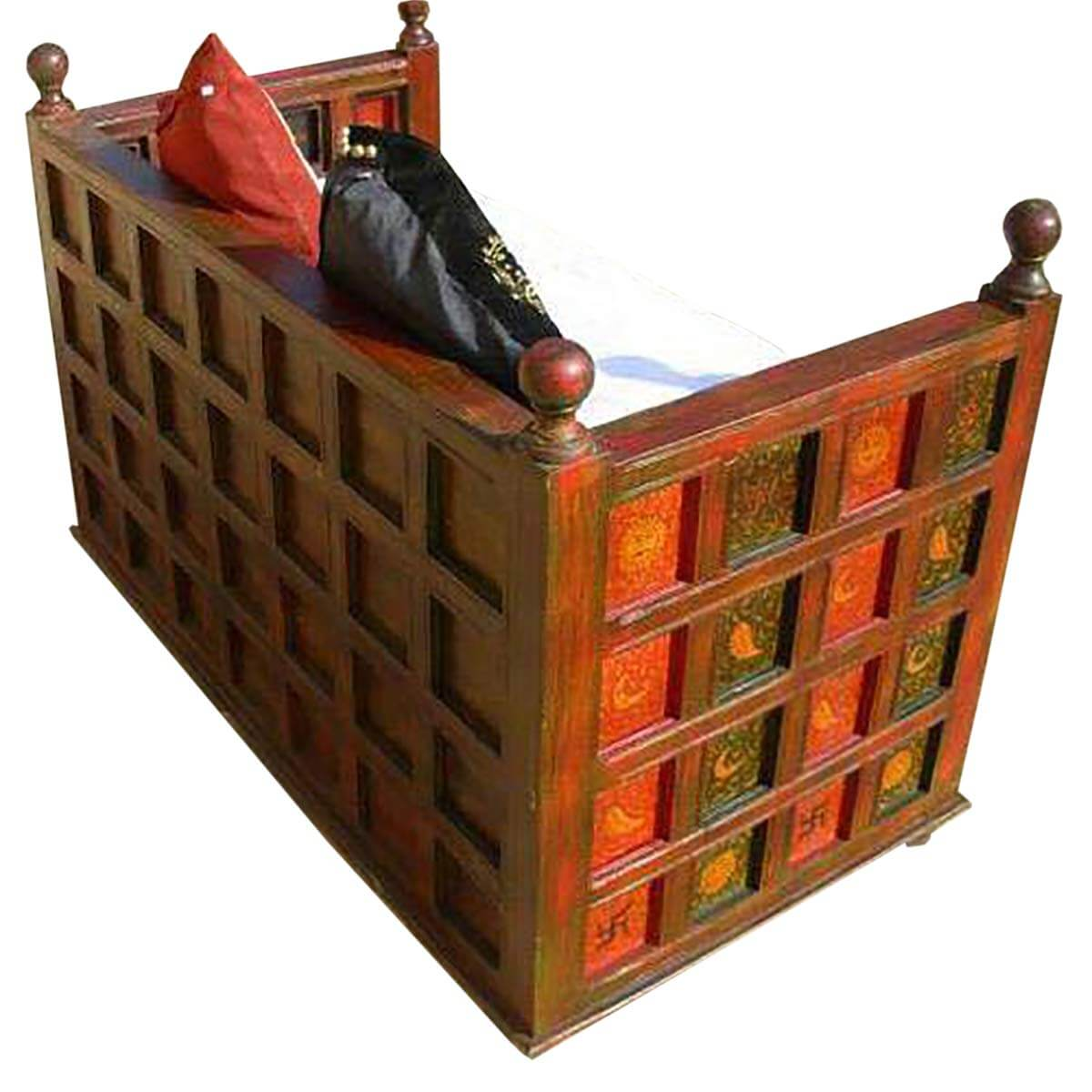 solid wood bench sofa couch storage chest furniture. Black Bedroom Furniture Sets. Home Design Ideas
