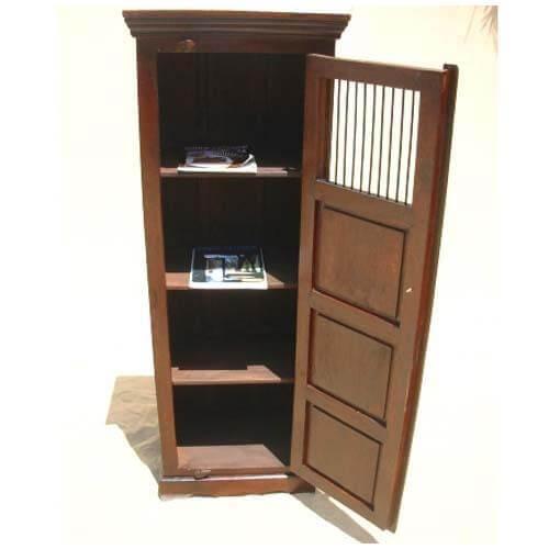 Solid Wood Kitchen Storage Cabinet Shelf Corner Stand