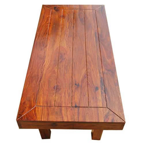 Solid Wood Rectangular Coffee Table: Mission Solid Wood Rectangle Coffee Table