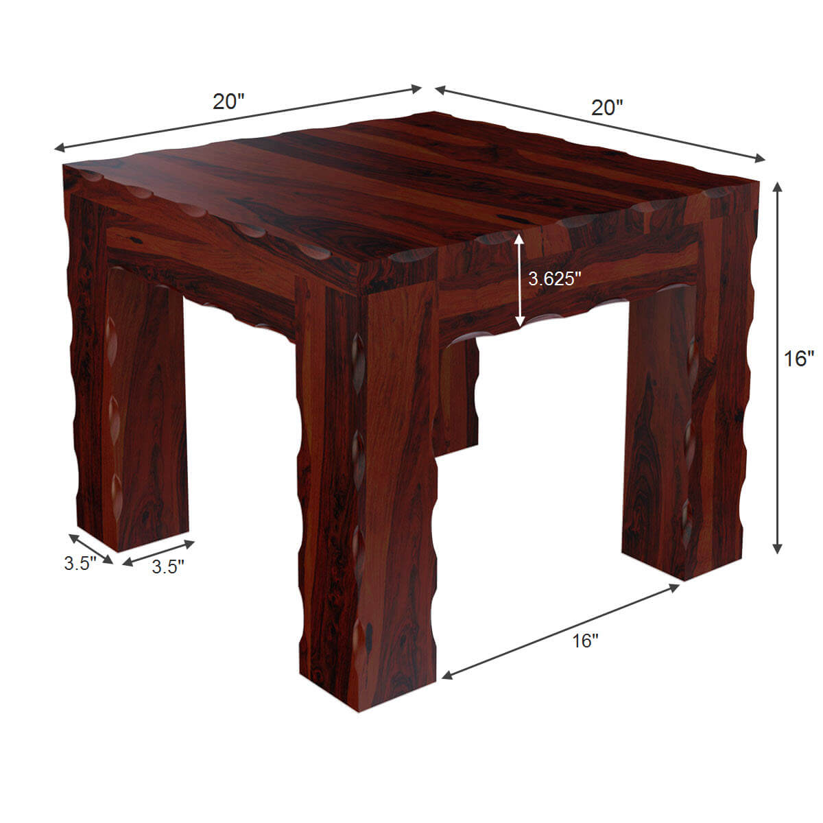 yakima contemporary style solid wood large rustic end table. Black Bedroom Furniture Sets. Home Design Ideas