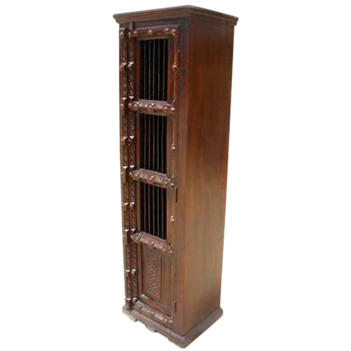 Wood Unit Kitchen Corner Stand Storage Cabinet Shelf