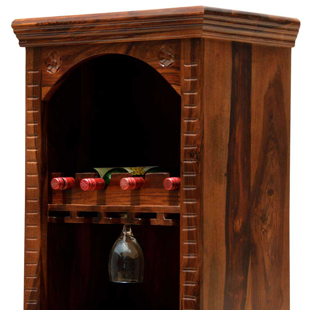 solid wine wood storage product with rustic richmond expandable cabinet bar