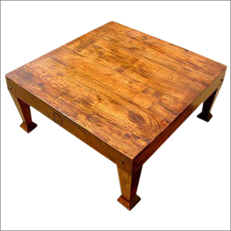 Shaker Style Square Coffee Table Made Of Solid Hardwood