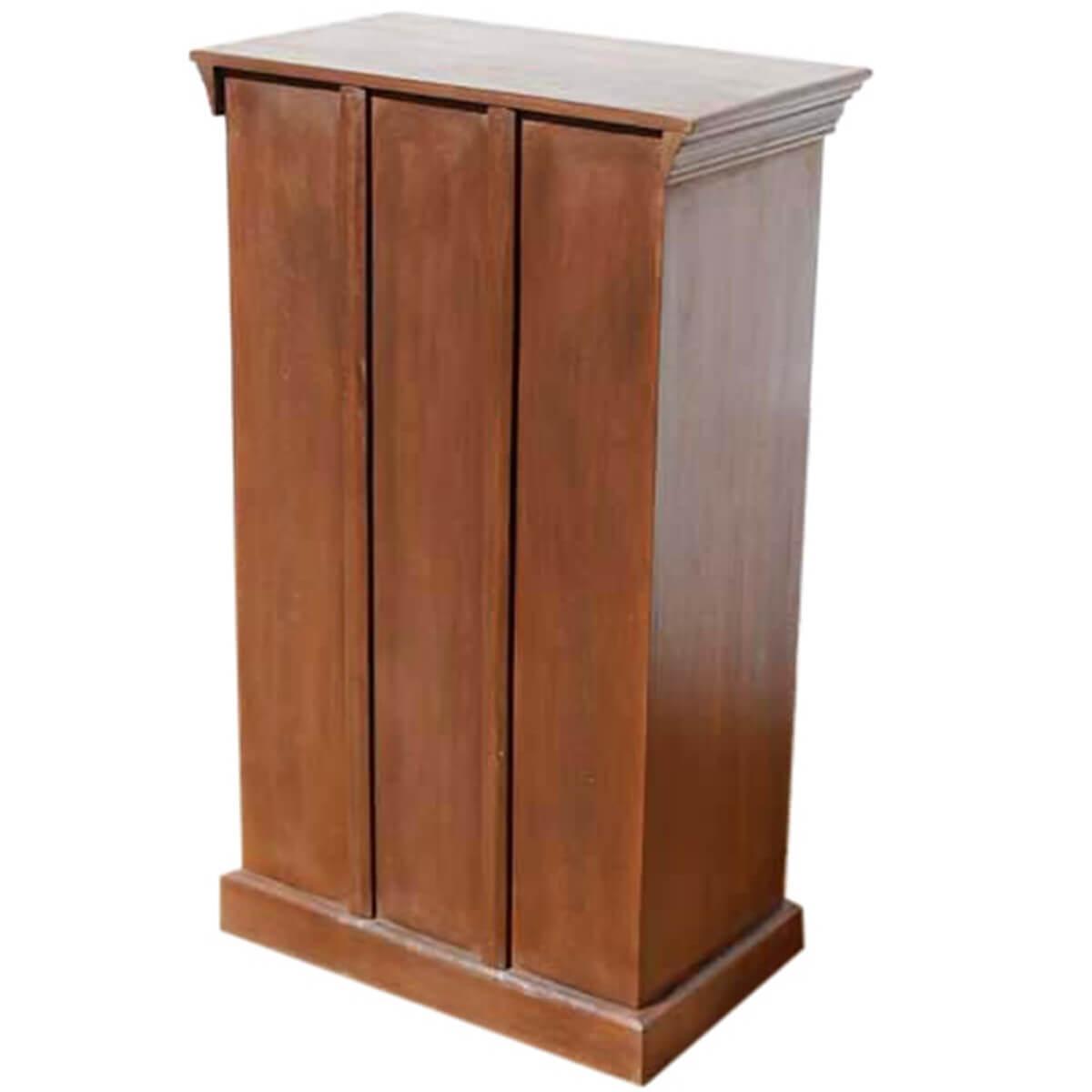 Kitchen Wardrobe Cabinet: Wood Brass Accents Door Armoire Storage Kitchen Cabinet