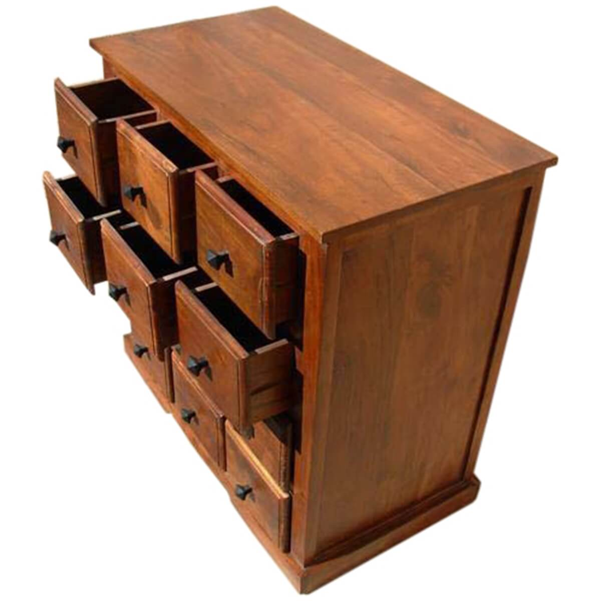Handmade Wooden Bedroom Storage Dresser Chest With 12 Drawers