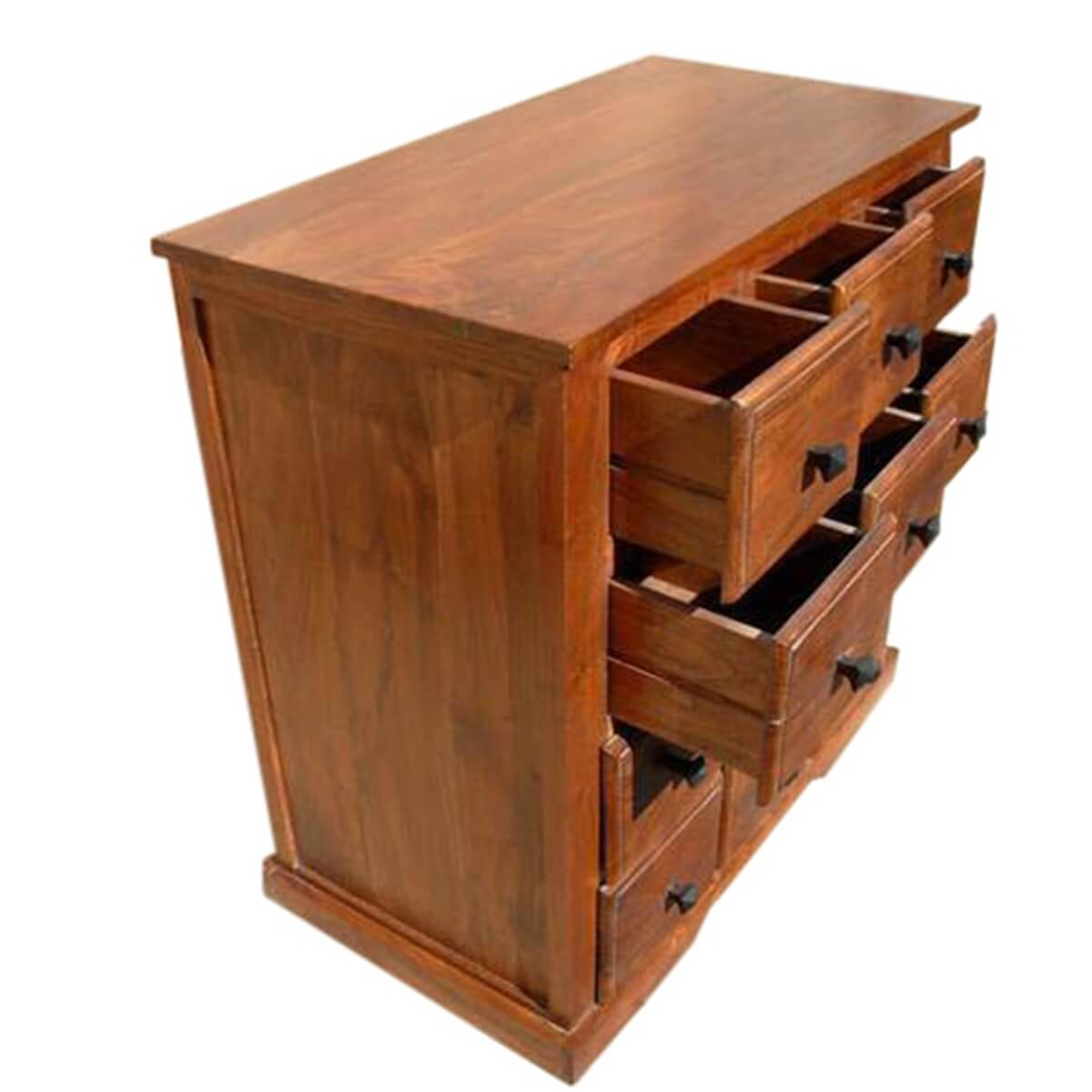 Handmade wooden bedroom storage dresser chest with drawers