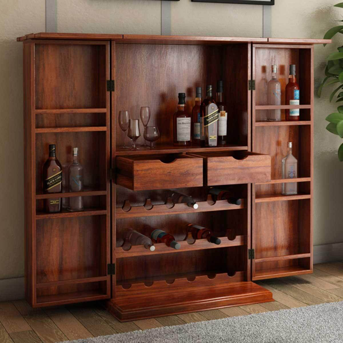 wood glass bar discount of rustic vintage furniture wooden rack portable wine cabinets interesting full with fridge hutch cabinet white storage home size mini