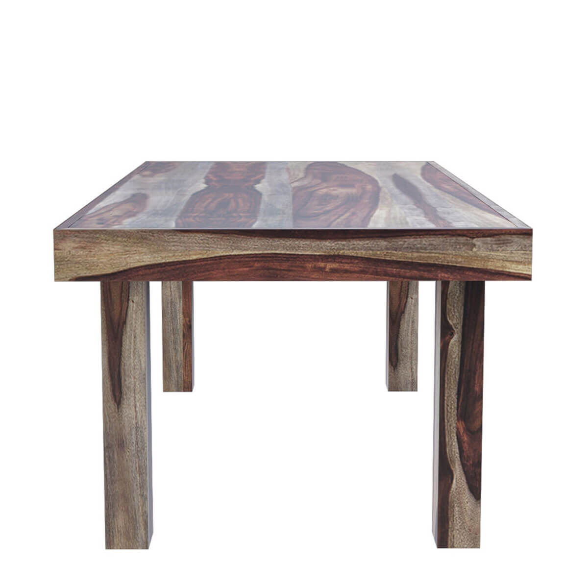 Frisco Modern Solid Wood Rectangular Rustic Dining Room Table