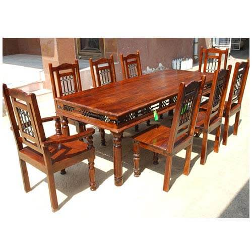 Solid Wood Classic Transitional Wrought Iron Dining Table  : 2633 from www.sierralivingconcepts.com size 500 x 500 jpeg 60kB