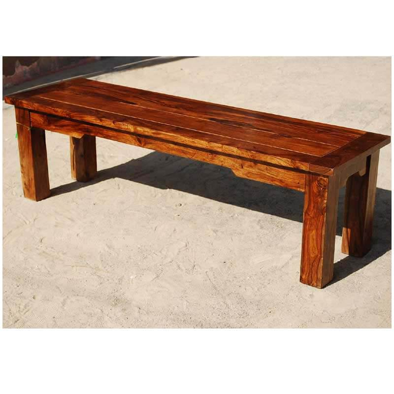 rustic bench with back home wood furniture marion handcrafted rustic solid wood backless dining bench 989