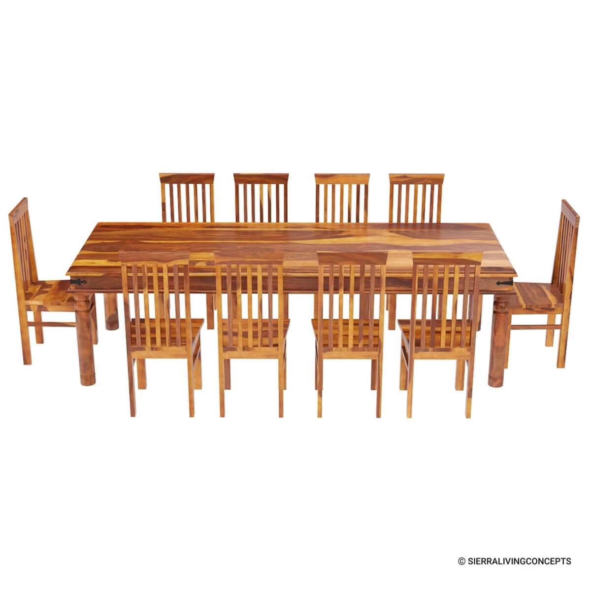 Lincoln Study Large Dining Room Table Chair Set For 10 People