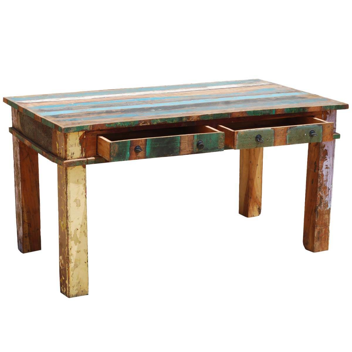 Reclaimed Wood Dining Room Table ~ Reclaimed wood rustic dining room table furniture