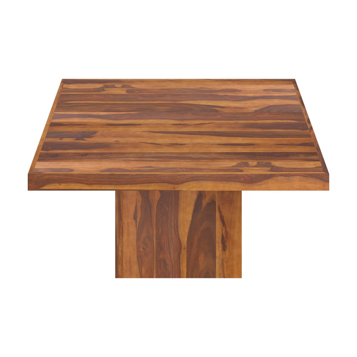 Square Wood Dining Tables wood modern rustic block pedestal square dining table for 8