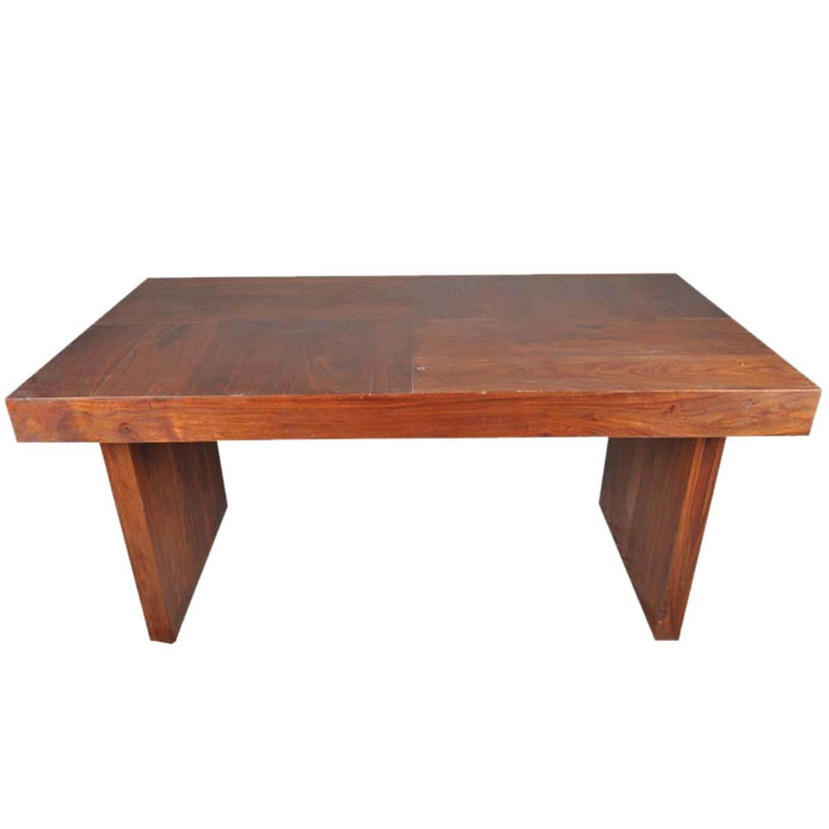 Wood Bench Dining Table: Sierra Contemporary Mango Wood Bench Dining Table