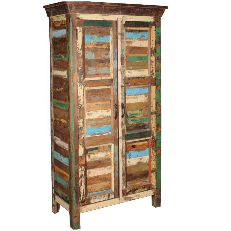 ... Appalachian Rustic Old Wood Patchwork Armoire Cabinet ...