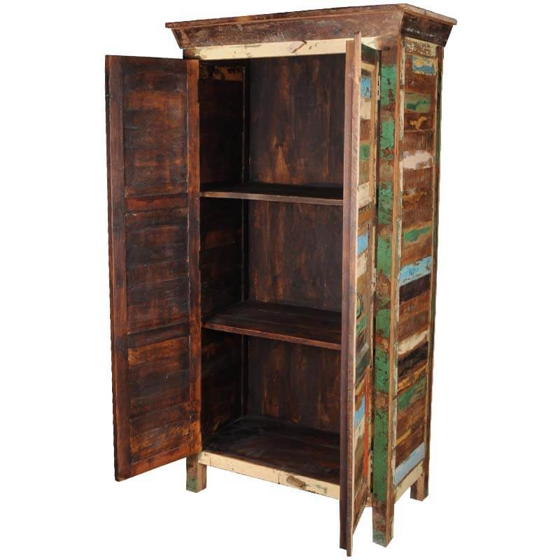 tool armoire appalachian rustic reclaimed wood patchwork armoire cabinet