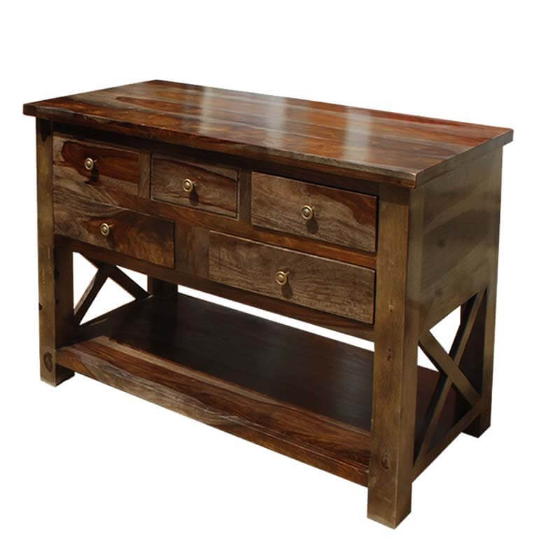 Foyer Console Questions : Portland solid wood storage drawer console foyer table