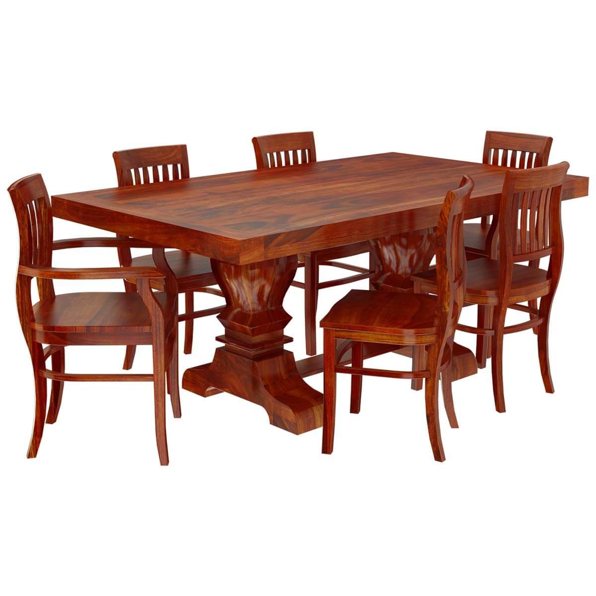 Espresso Dining Room Set Siena Solid Wood Trestle Pedestal Dining Table Amp Barrel