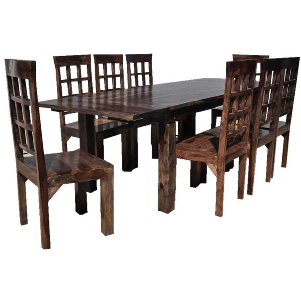 Portland Rustic Furniture Extendable Dining Room Table