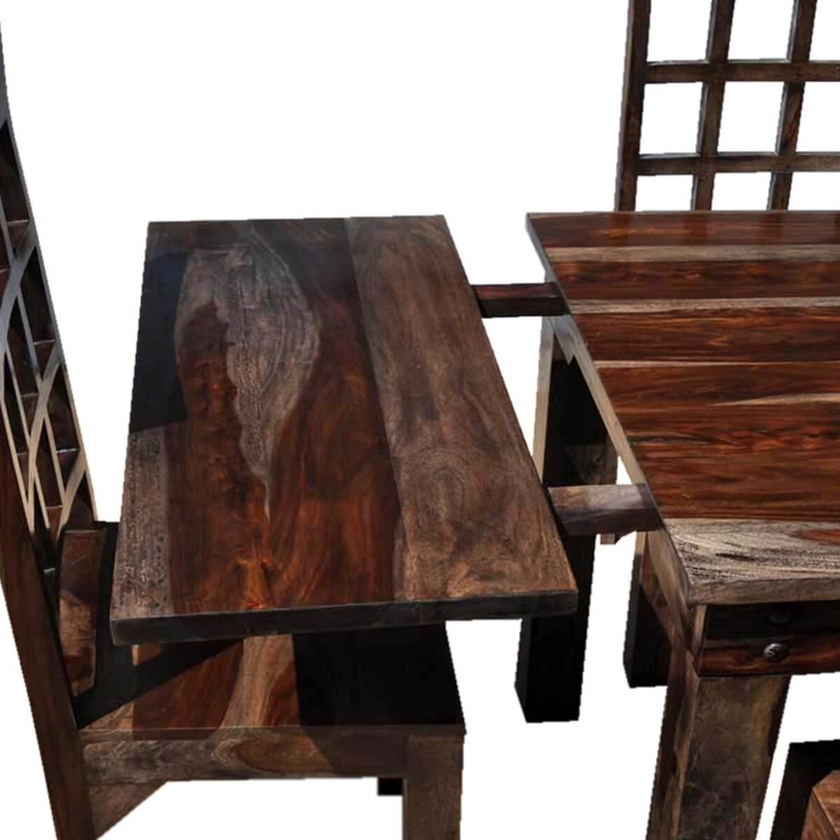 portland rustic furniture extendable dining room table chair set. Black Bedroom Furniture Sets. Home Design Ideas