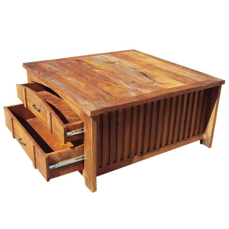 Kokanee Teak Wood 3pc Coffee Table & End Table Set