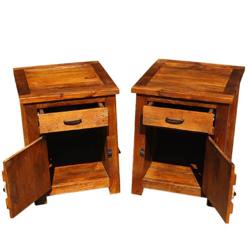 Kokanee Teak Wood 3pc Coffee Table & End Table Set