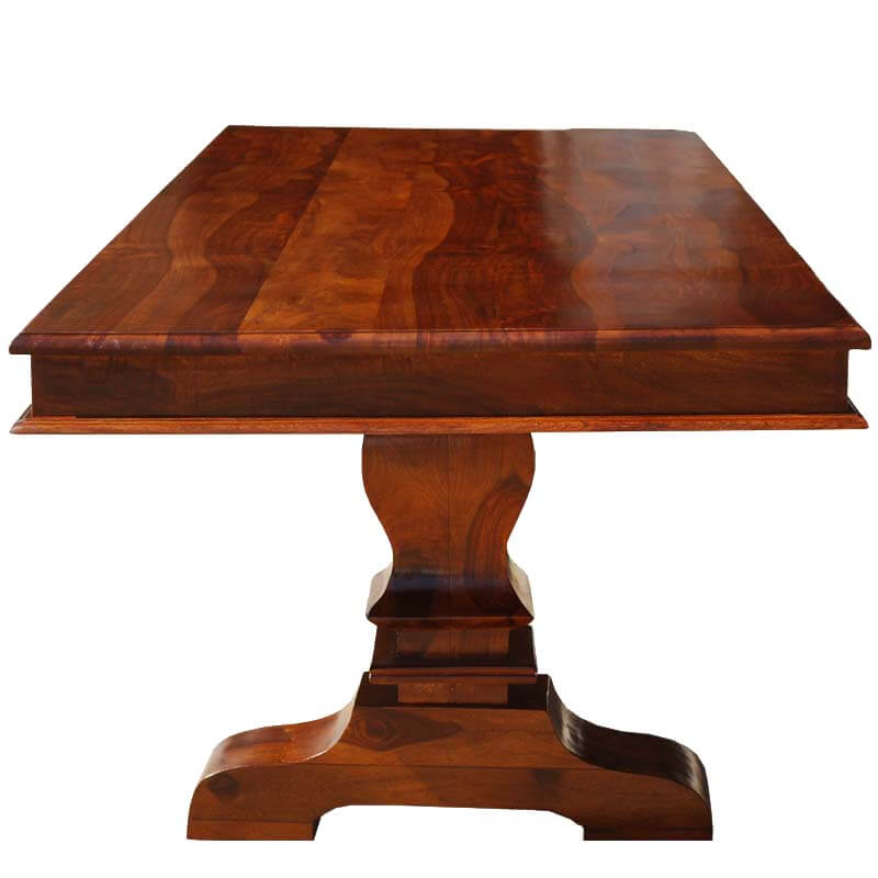 High Quality Tiraspol Solid Wood Trestle Pedestal Large Rectangle Dining Table