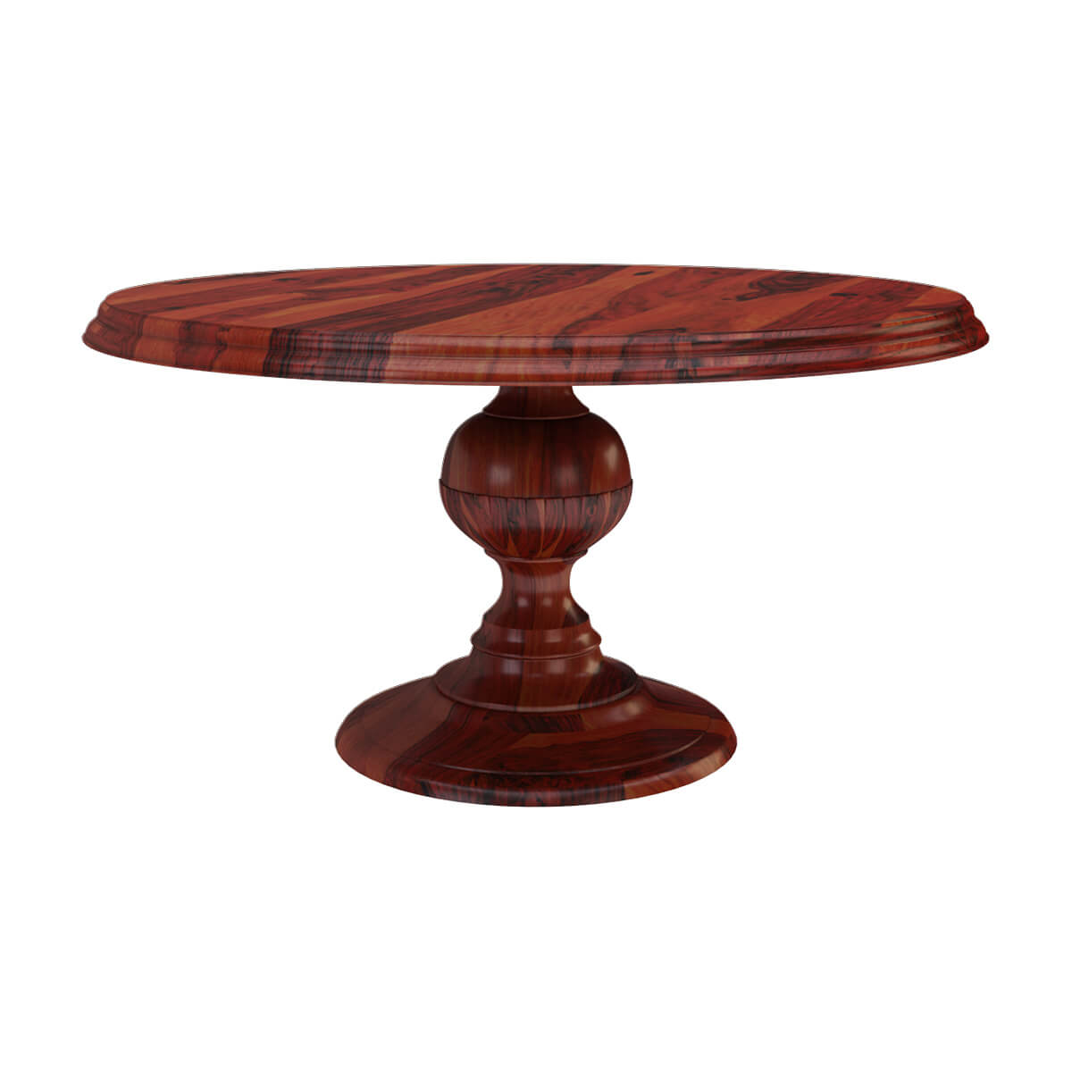 Solid Wood Rustic 60 Round Dining Table With Pedestal Base
