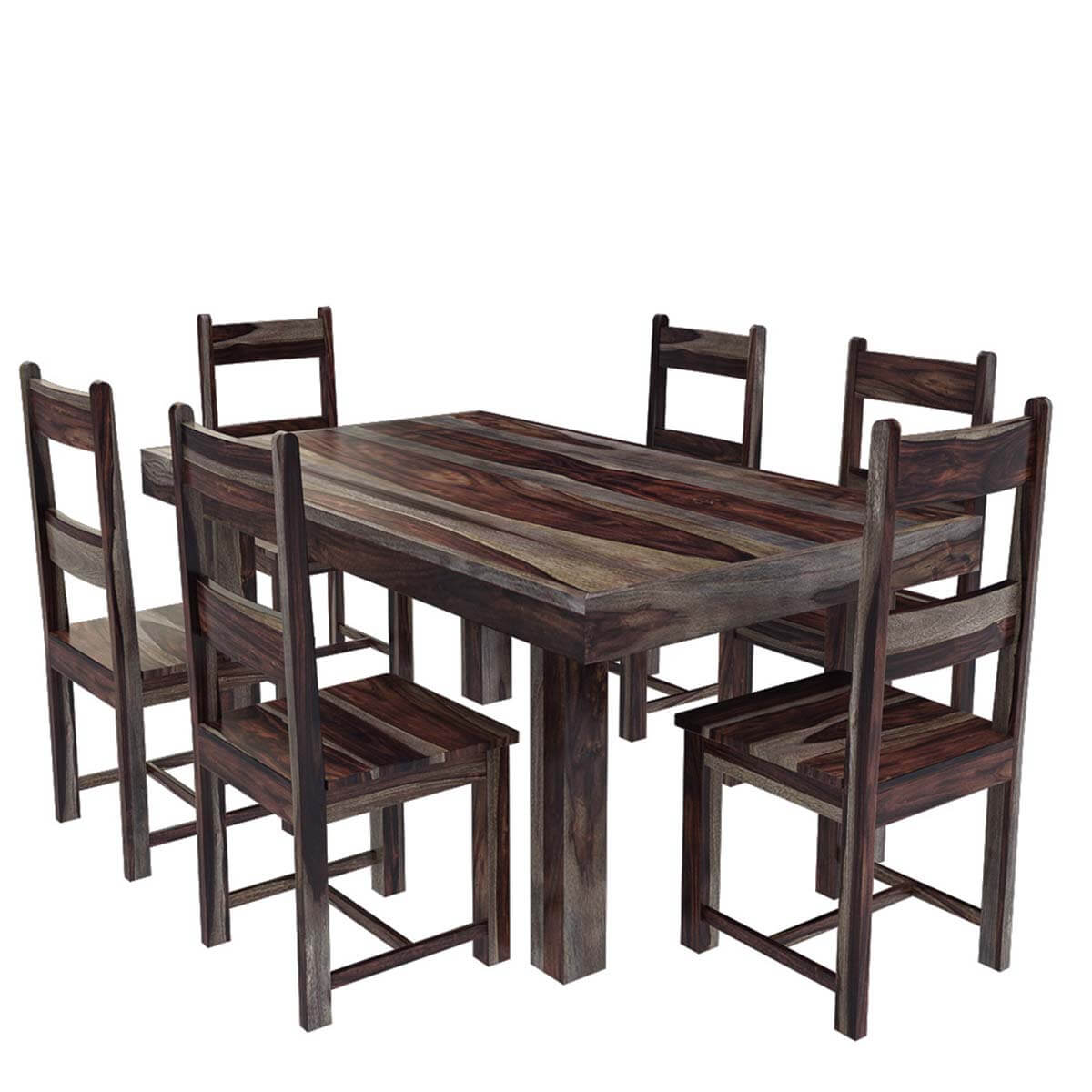 Casual Modern Dining Room: Frisco Modern Solid Wood Casual Rustic Dining Room Table