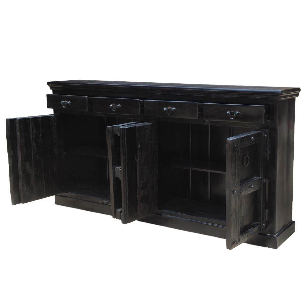 Wood Kansas City Black Buffet Cabinet Sideboard