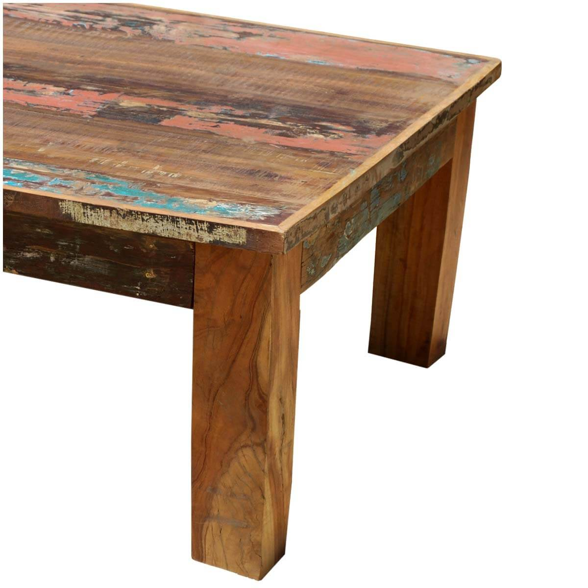 Culbertson rustic reclaimed wood rectangle coffee table