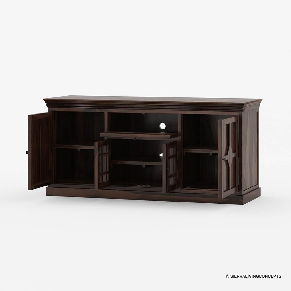 Santa Fe Rustic Solid Wood TV Console Cabinet