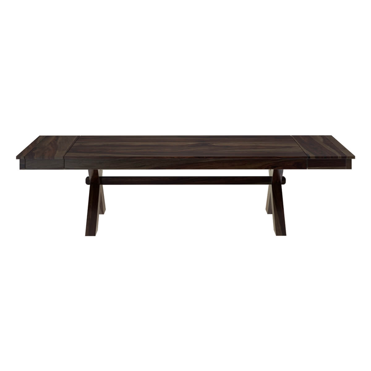 Westside picnic style solid wood dining table with extensions for Styling a dining table