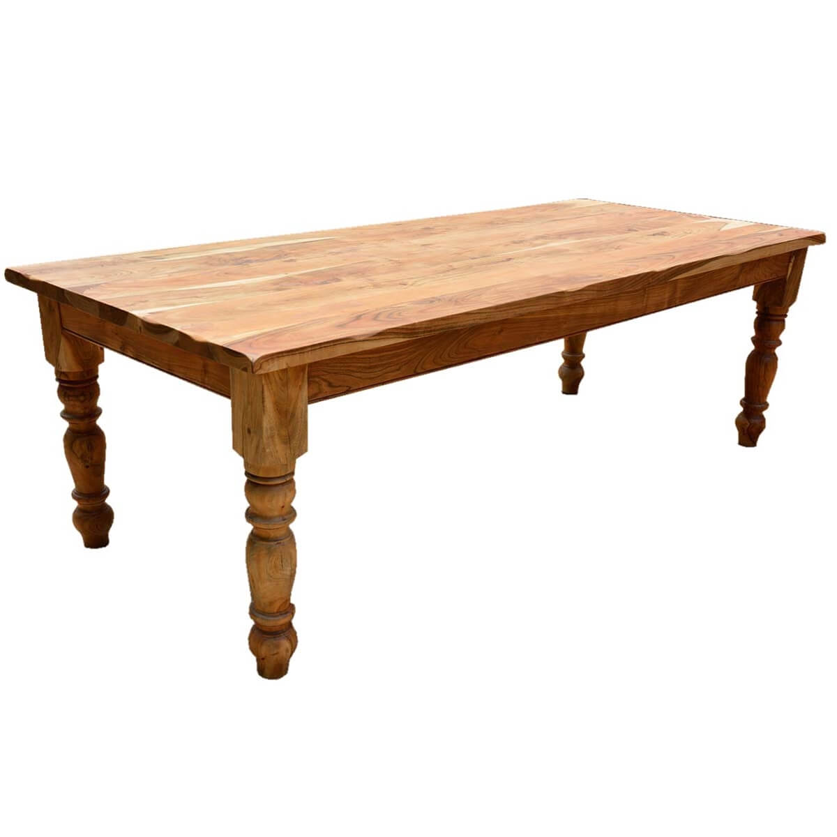 Solid wood farmhouse dining table solid wood vintage for Solid wood dining table