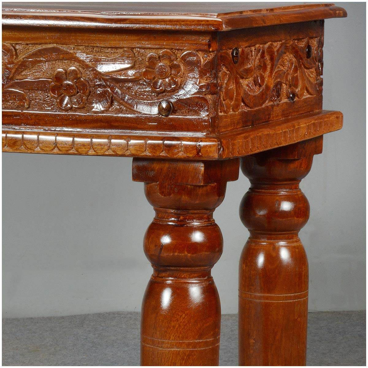 Lincoln Study Solid Wood Hand Carved Console Table