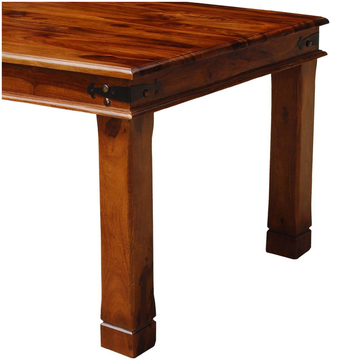 Solid Wood Transitional Dining Table And Chairs Set: Fannin Transitional Solid Wood Double Edge Dining Table