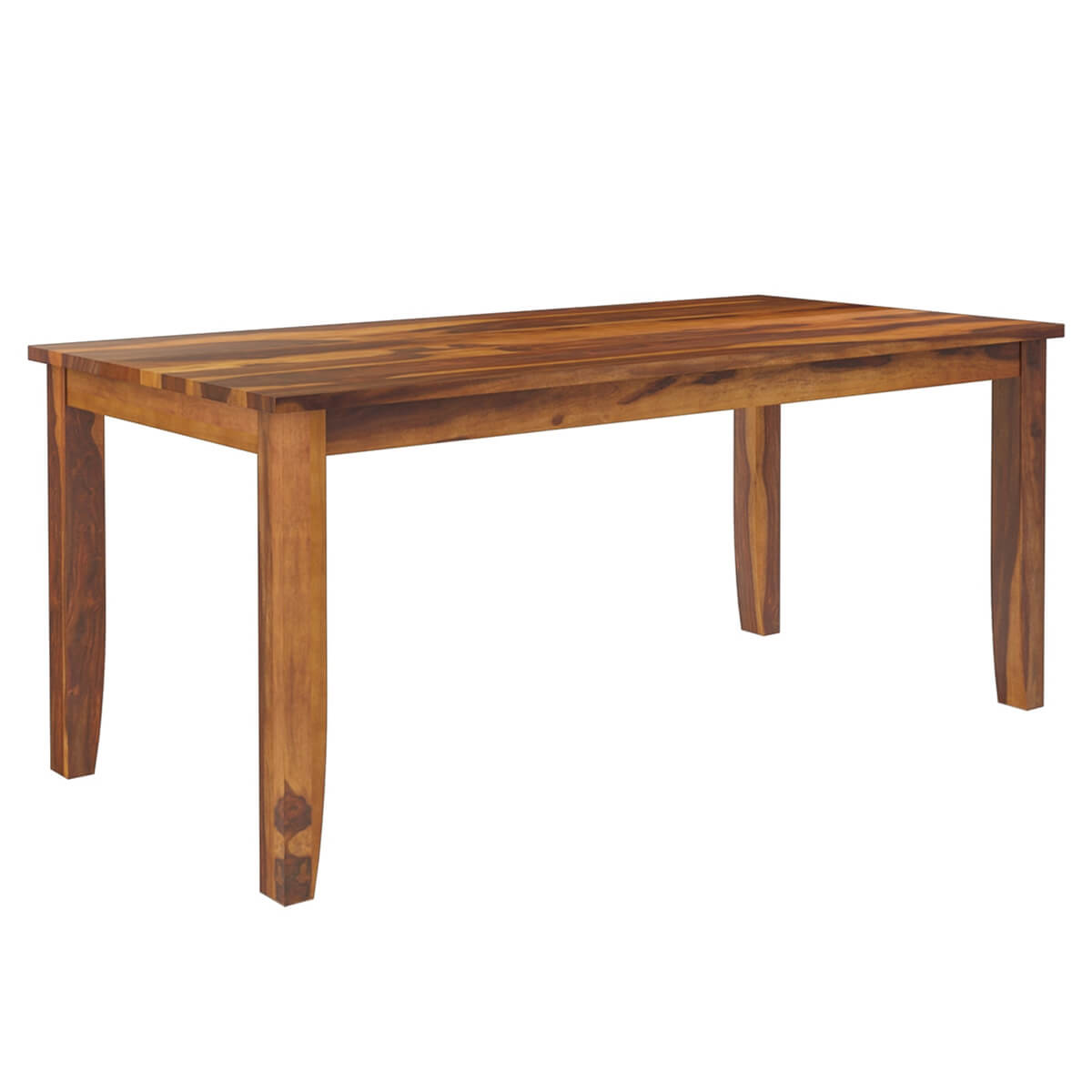 Cariboo contemporary tapered legs solid wood dining table for Contemporary wood dining table